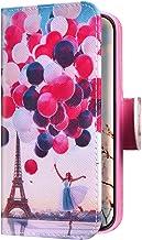 Uposao Funda para Samsung Galaxy A40 Carcasa Cuero con Tapa Flip Libro Estuche,Torre del globo Dibujos PU Premium Flip Case Billetera con Silicona Cover Interna,Cierre Magnético,Función Soporte
