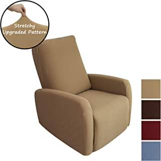 OBYTEX Stretch Sofa Cover Slipcovers Furniture Protectors (Taupe, Recliner)