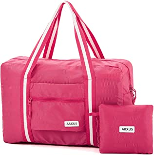 Arxus Foldable Lightweight Duffle Tote over Luggage Handle Carry on Travel Bag for Gym Sports Airline