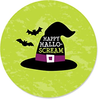Sponsored Ad - Big Dot of Happiness Happy Halloween - Witch Party Circle Sticker Labels - 24 Count