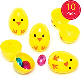 Vente 12 Chick ou canard en forme de deux parties à remplir en Plastique oeufs de Pâques