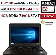 Lenovo ThinkPad X131E 11.6in Laptop, AMD E2-1800, 4GB DDR3, 320GB SATA, 802.11n, Webcam, HDMI, Windows 7 Professional (Renewed)