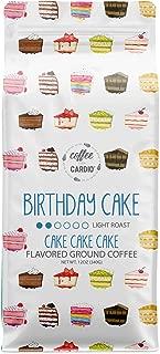 Coffee Over Cardio Birthday Cake Flavored Coffee Light Roast Breakfast Blend - Smooth Brew 100% Arabica Costa Rican Ground Coffee Beans - Gluten Free, Non-GMO - 12 oz Bag (0 Calories & 0 Sugars)