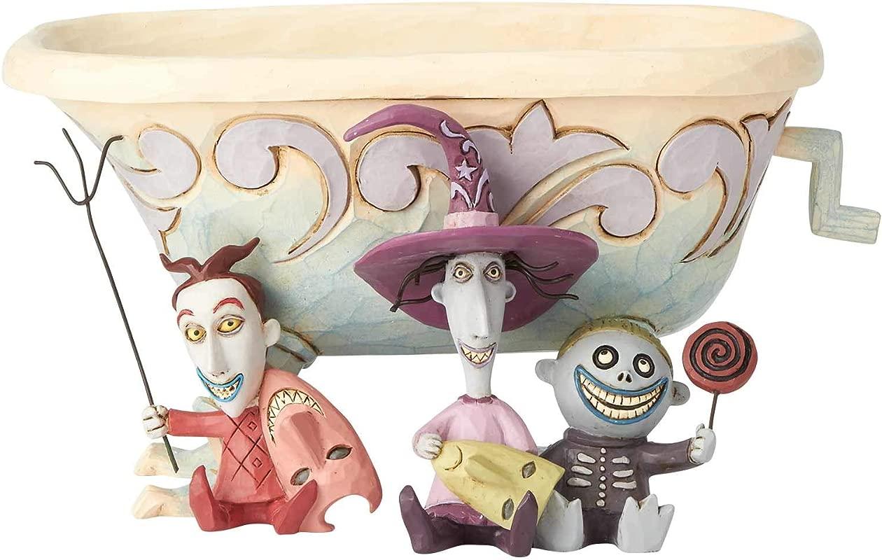 Enesco Disney Traditions Lock Shock Barrel Candy Dish Multicolor