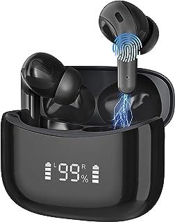 Bluetooth Kopfhörer in Ear, Kabellos Sport Kopfhörer Wireless Earbuds IPX7 Wasserdicht Ohrhörer Noise Cancelling Bluetooth Headset 25H Stunden Spielzeit mit Type-C Schnellladung mit HD Mikrofon