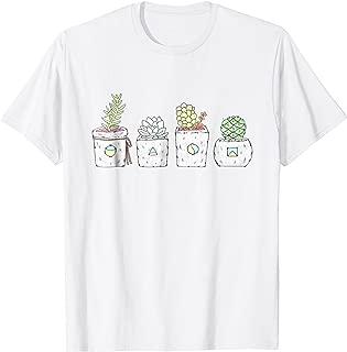 Cute Potted Succulent & Cactus T-shirt