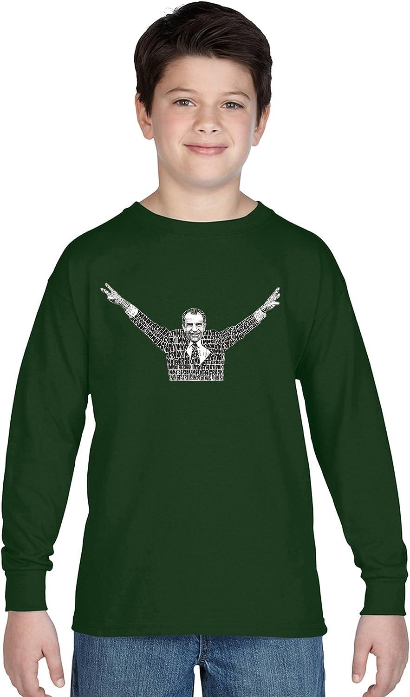 LA Excellence POP ART Boy's Long OFFicial site Sleeve Word Art T-Shirt NOT - A I'm Crook