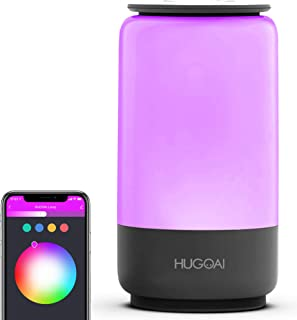 چراغ لامپ جدول هوشمند ، چراغ شبانه HUGOAI مهد کودک برای کودکان ، چراغ تخت خواب Dimmable برای اتاق خواب ، کنترل هوشمند از طریق برنامه و صدا ، کار با الکسا و صفحه اصلی Google ، هیچ هاب لازم نیست - خاکستری