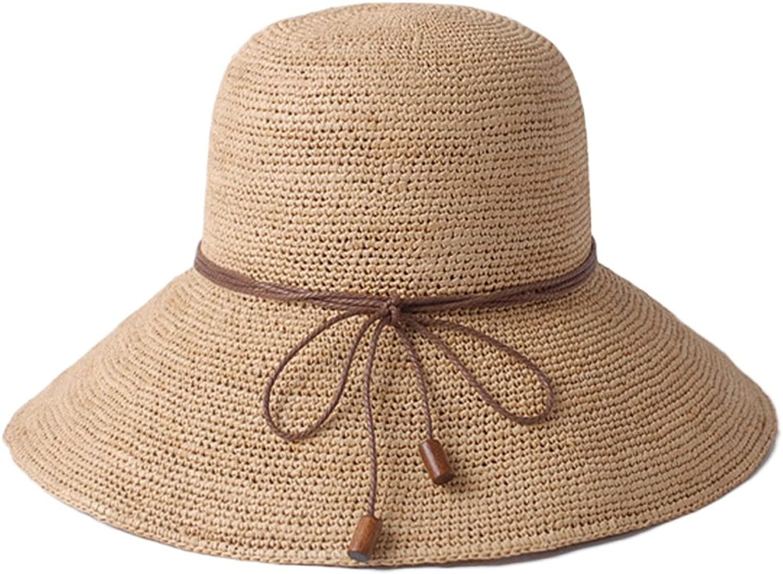 Women's Straw Hat  Summer Travel Seaside Beach Hat, Sweet Collapsible Sun Hat Fisherman Hat (color   B)