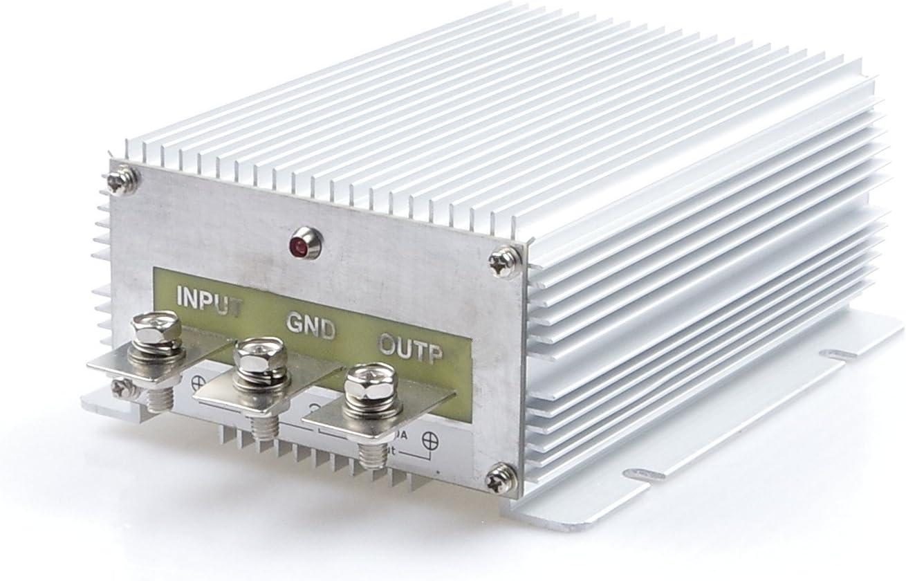 KNACRO High-Power Voltage Converter Regulator DC 24V Step-Down to DC 12V 60A 720W Car Truck Power Buck Transformer (DC 24V to 12V 60A)
