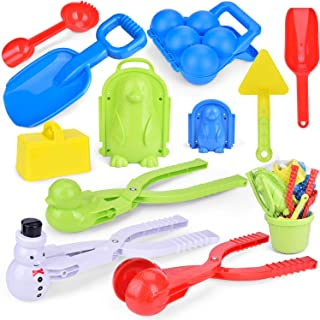 FUN LITTLE TOYS Snowball Maker Tools for Kids-12 Pieces and for Kids and Adults Snow Ball Fights, Fun Snowball Toys for Winter Outdoor Activities