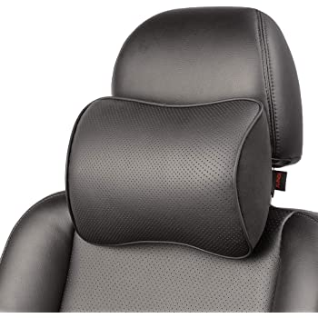 Aukee Car Seat Pillow Headrest Neck Support Travel Sleeping Cushion for Kids Adults Black