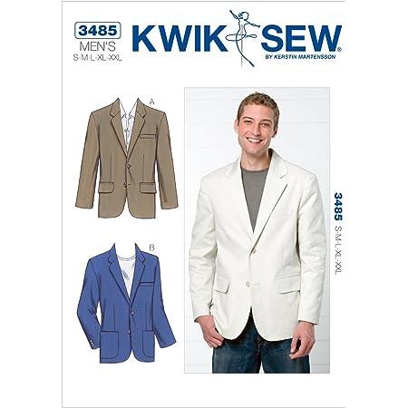 KWIK SEW 3485 - Patrón de Costura para Confeccionar Americana de Hombre (Tallas S - XXL)