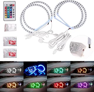 π 4131MM Multi-Color RGB LED Angel Eye Halo Rings Light for BMW E46 E38 E39 3 5 7 Series