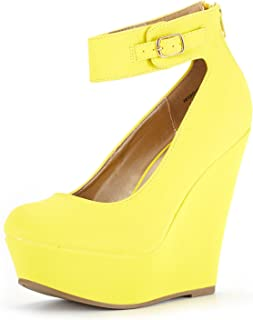 9fcf4181956 DREAM PAIRS Women s Height-Ankle Fashion Wedge Platform Pumps Shoes