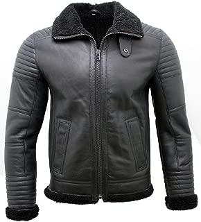 Men's Black Nappa Leather Sheepskin Biker Jacket