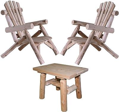 Amazon Com Lakeland Mills Cedar Log Lounge Chair Natural Patio