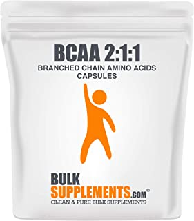 BulkSupplements.com BCAA 2:1:1 (Branched Chain Amino Acids) (100 Vegetarian Capsules - 33 Servings)