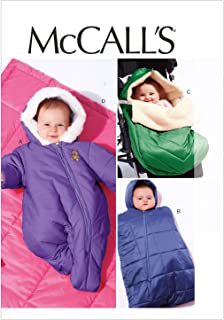McCall Patterns M6635 Infants' Snowsuit/Bunting and Blanket Sewing Template