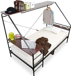 【3%OFF価格!11/22 18:00~11/24 23:59】 LOWYA 人をダメにするベッド ベッド ベッドフレーム シングル ブラック×ウォルナット