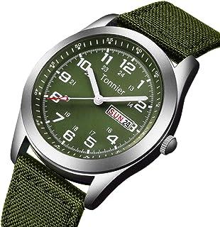Tonnier Men's Weekender&Calendar Analog Canvas Strap Mans Watches