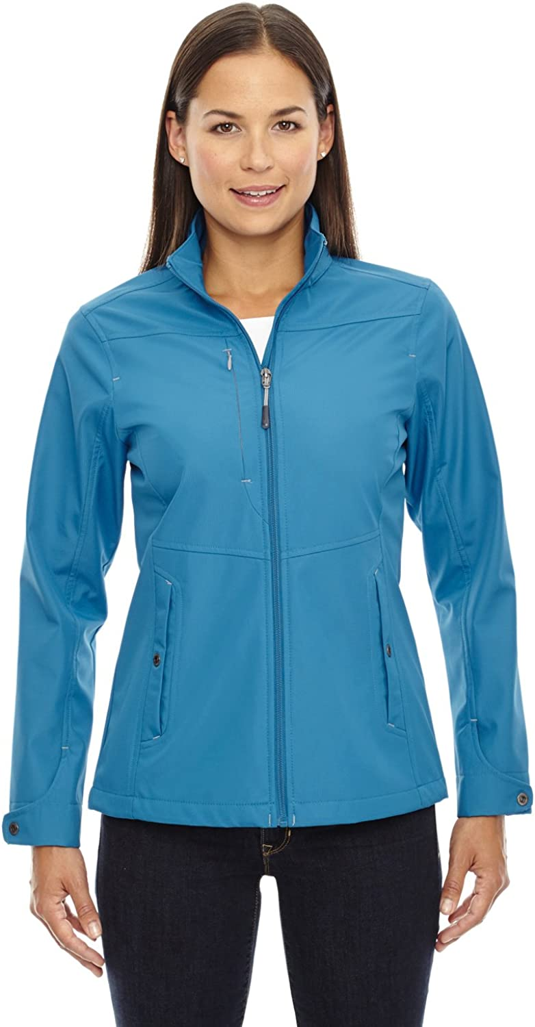 9 Crowns Womens North End 3-Layer Windbreaker Travel Soft Shell Jacket