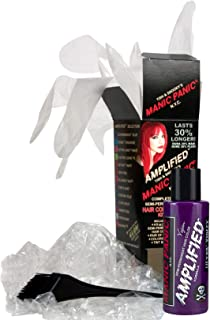Manic Panic Ultra Violet Amplified Hair Coloring Kit, Vegan Semi-Permanent Hair Ultra Violet Dye Cream, 3X Pigments & Last 30% Longer Than Classic Voltage (6-8 Weeks), PPD & Ammonia-free, Ready to Use