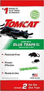 Tomcat Super Hold Glue Traps Rat Size, Contains 2 Rat Size Traps - Capture Rats and Mice - Also Used for Cockroaches, Scorpions, Spiders and Most Other Pests