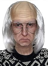 Old Man Wig - White Bald Cap Wigs Ben Franklin Einstein Costume - Fits Kids Child Men