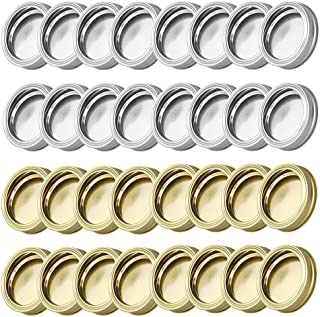 TXIN 72 Pieces 86mm Wide Mouth Canning Lids Jar Cover Replacement Lid, Leakproof Screw On Glass Jar Sealing Lids for Mason...