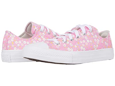 Converse Kids Chuck Taylor(r) All Star(r) Floral (Little Kid/Big Kid) (Peony Pink/Topaz Gold/White) Girl