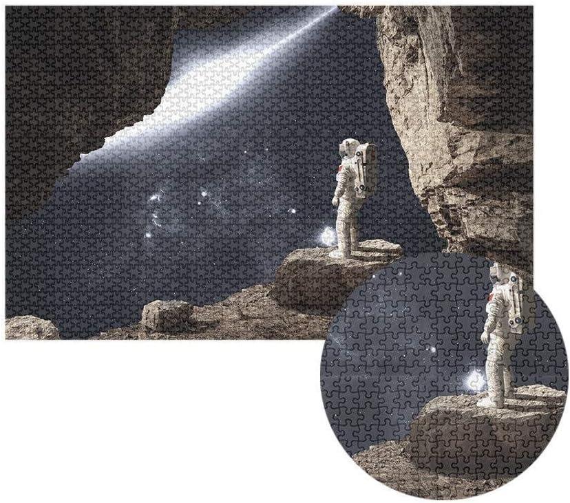 DKee Space Astronaut Legpuzzels For Volwassenen En Kinderen 1000 Stukken Houten Puzzel Kits Cadeaus DIY Muurschildering Educatieve Spelletjes Toys 75x50cm (Color : C) B