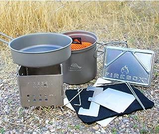 ファイヤーボックス(Firebox)nano ナノチタン クッカーセット バックパックに収まる小さいクッキングセット、小さな焚火で調理可能