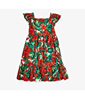 Portofino Print Poplin Dress (Big Kids)