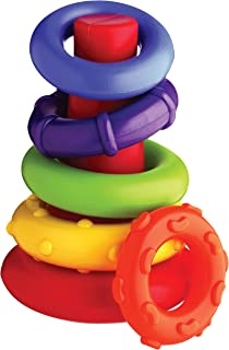 Playgro Rock N' Stack Shape Sorters & Stackers, Multicolor [Pg4011455], Multi Color 0-24 Months