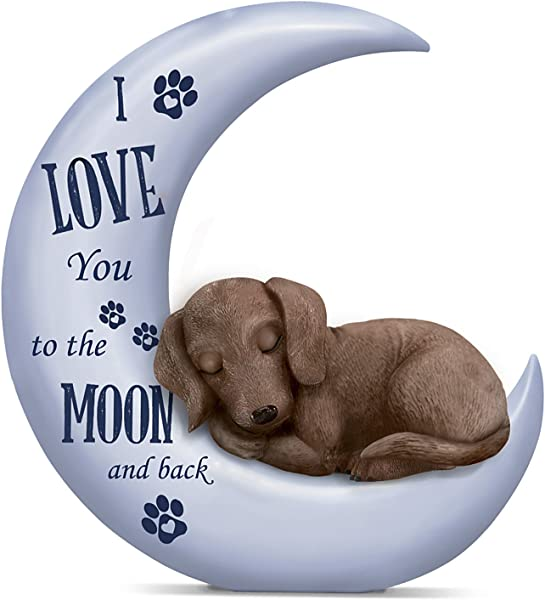 The Hamilton Collection Blake Jensen Dachshund Figurine I Love You To The Moon And Back