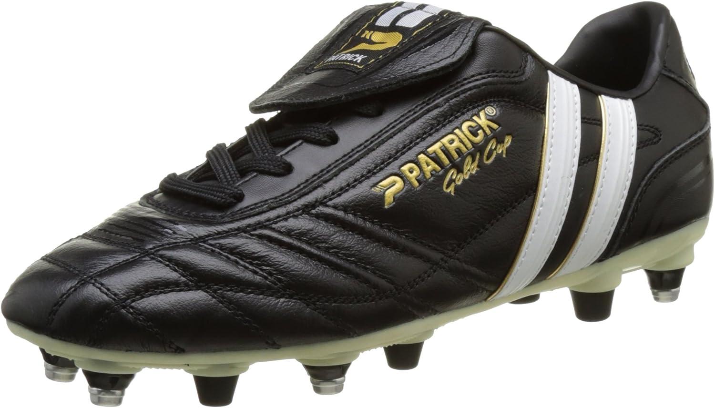 Patrick guld Cup 14 herr Fotboll skor Cleat svart svart svart vit  officiell hemsida
