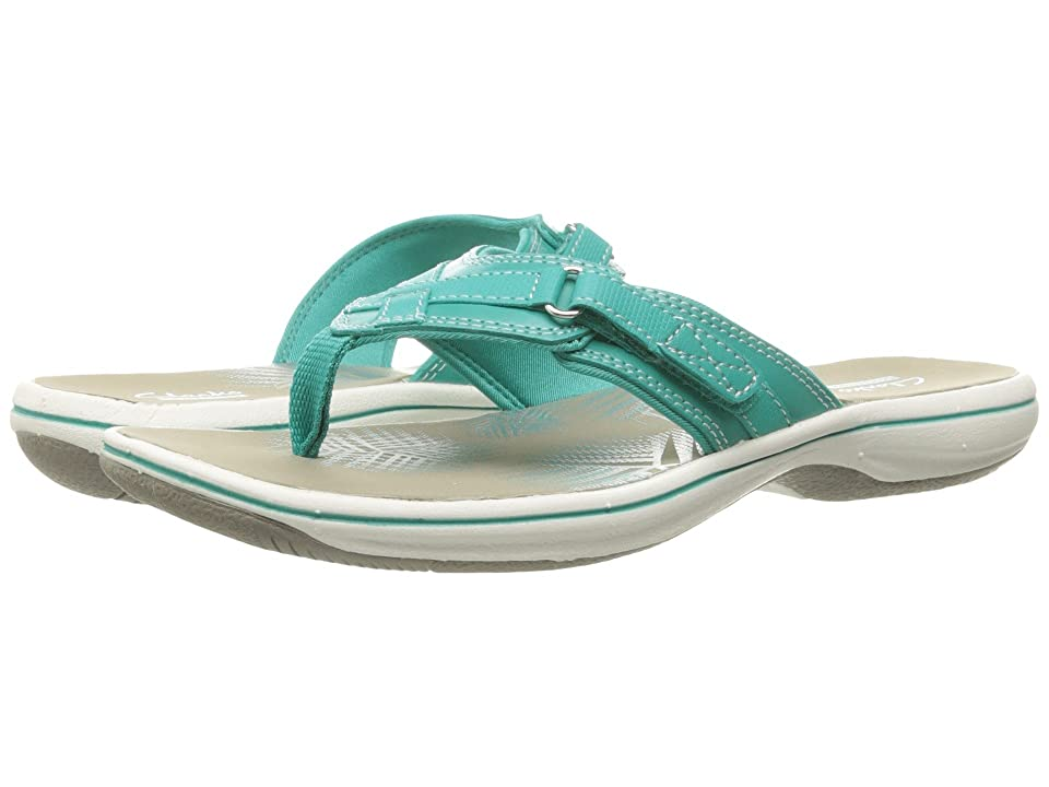 Clarks Breeze Sea (Turquoise Synthetic) Women