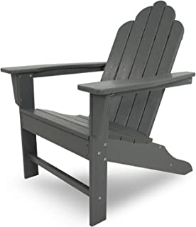 POLYWOOD ECA15GY Long Island Adirondack Chair, Slate Grey