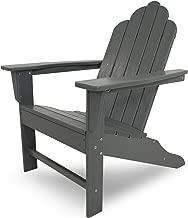 POLYWOOD ECA15GY Long Island Adirondack Chair, Slate Grey