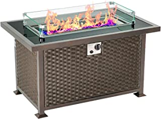 Best blue glass propane fire pit Reviews