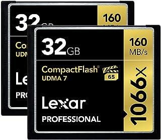 Lexar Professional 1066X 32GB (2-Pack) CompactFlash Cards (L