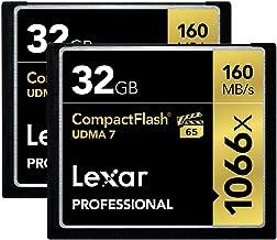 Lexar Professional 1066X 32GB (2-Pack) CompactFlash Cards