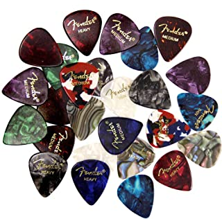 Best Fender Premium Picks Sampler - 24 Pack Includes Thin, Medium & Heavy Gauges (Austin Bazaar Exclusive) Reviews