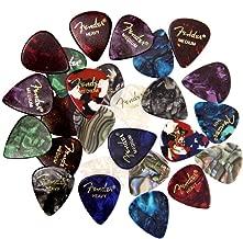Fender Premium Picks Sampler - 24 Pack Includes Thin, Medium & Heavy Gauges (Austin Bazaar Exclusive)