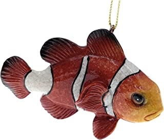 Globe Imports Clown Fish Christmas Ornament, 3.75 Inches Long