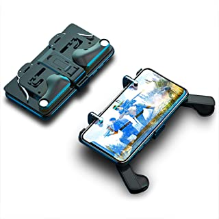 Mobile Game Controller Phone Case with Trigger for Call of Duty/Fortnite/PUBG | Portable Foldable Metal Triggers + Gaming Grip Handle | Compatible with iPhone and Android Phones