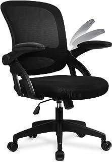 [Amazon限定ブランド]COMHOMA デスクチェア オフィスチェア メッシュ 椅子 疲れにくい パソコンチェア 可動式アームレスト 通気性 キャスター付き 高さ調節 ロッキング機能 PCチェア CH121-BLACK