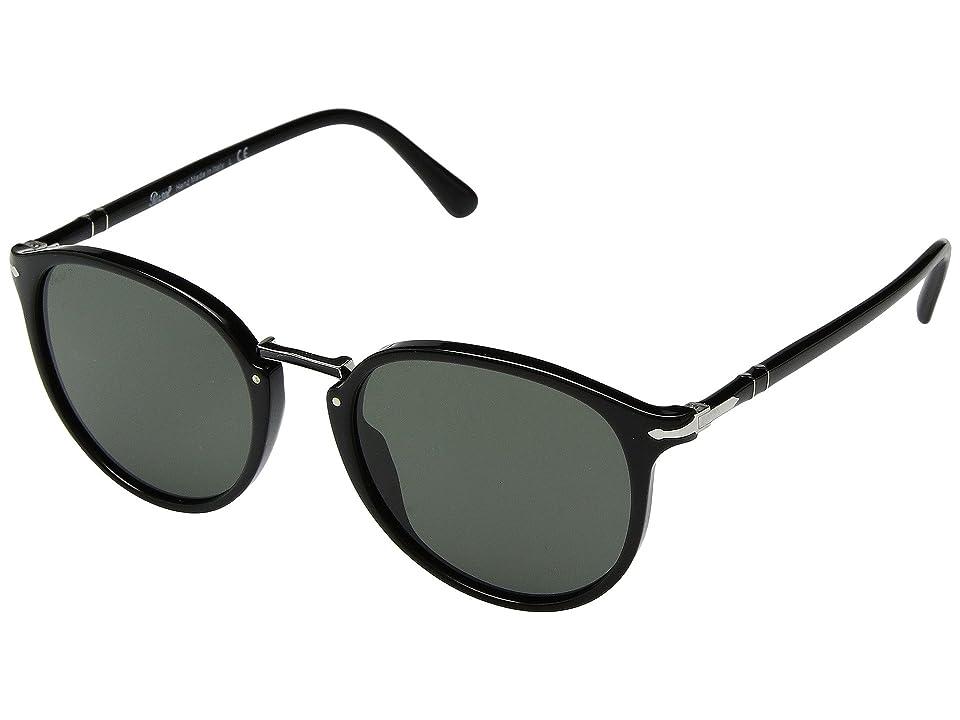 Persol 0PO3210S (Black/Green Polarized) Fashion Sunglasses