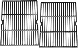 Hongso Matte Cast Iron Cooking Grid Replacement Parts for Uniflame Models GBC850W, Grill Chef GC7550, Ducane Gas Grill Models, 18 Inch BBQ Grill Grates, Set of 2, 30501009 (PCH502)